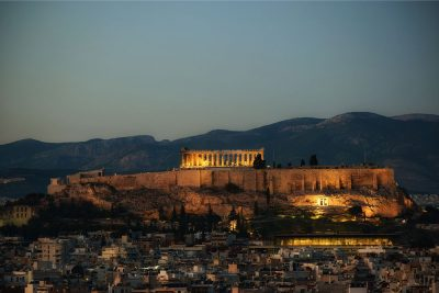 Athens in a tour at night